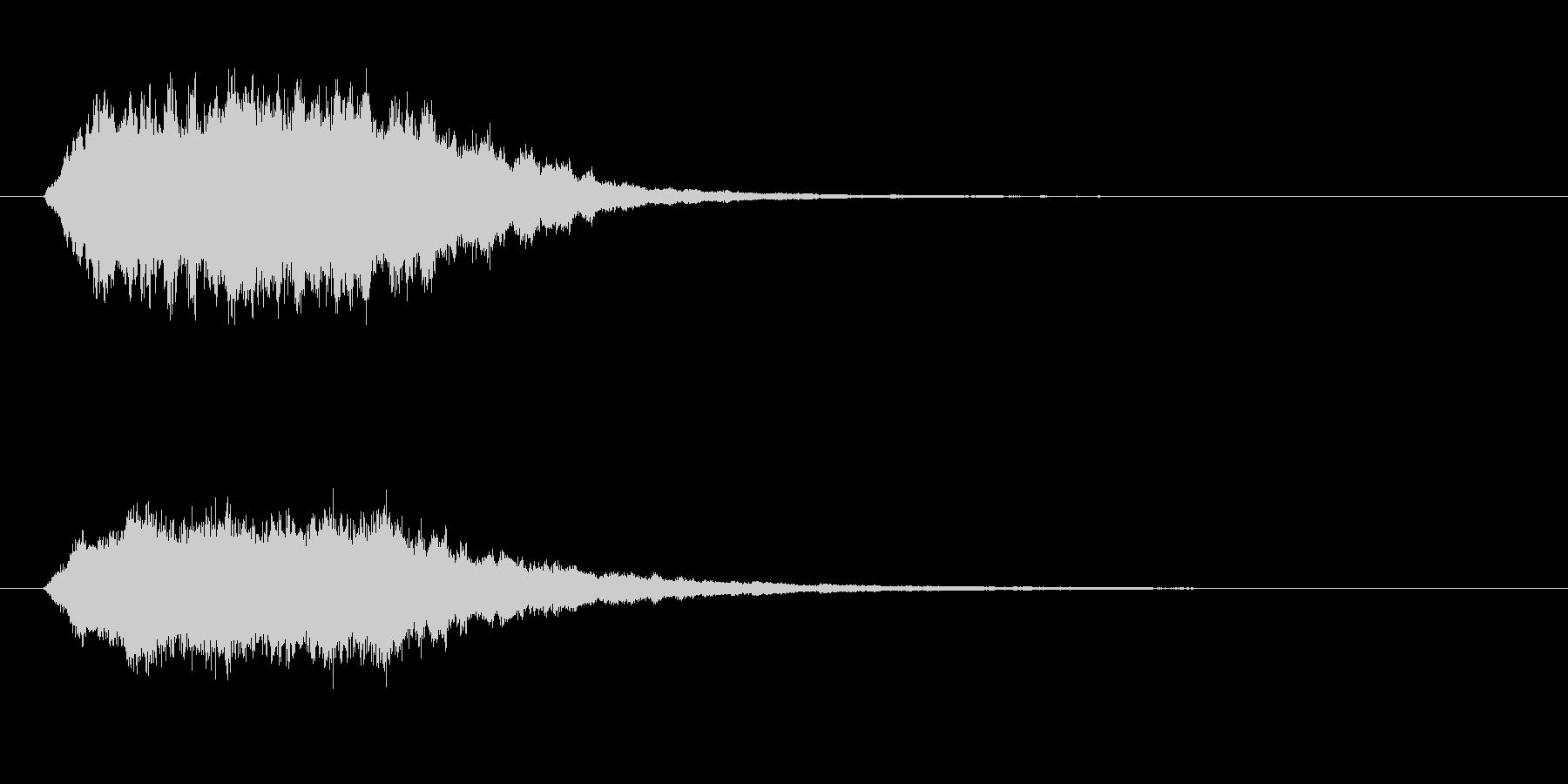 未来へ向かうようなサウンドロゴ、ジングルの未再生の波形