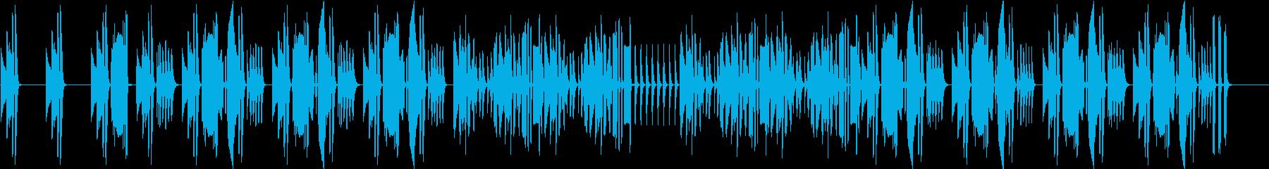 コミカルでいたずらな雰囲気のシンプル劇判の再生済みの波形