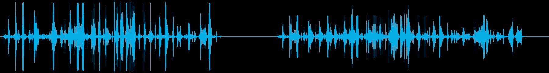 戦闘シーン、2つのバージョン、処理...の再生済みの波形