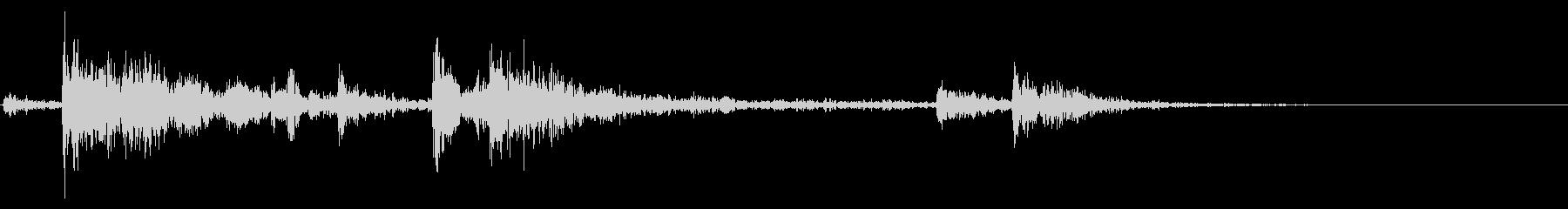 【生録音】鎖を軽く引っ張る音 2の未再生の波形