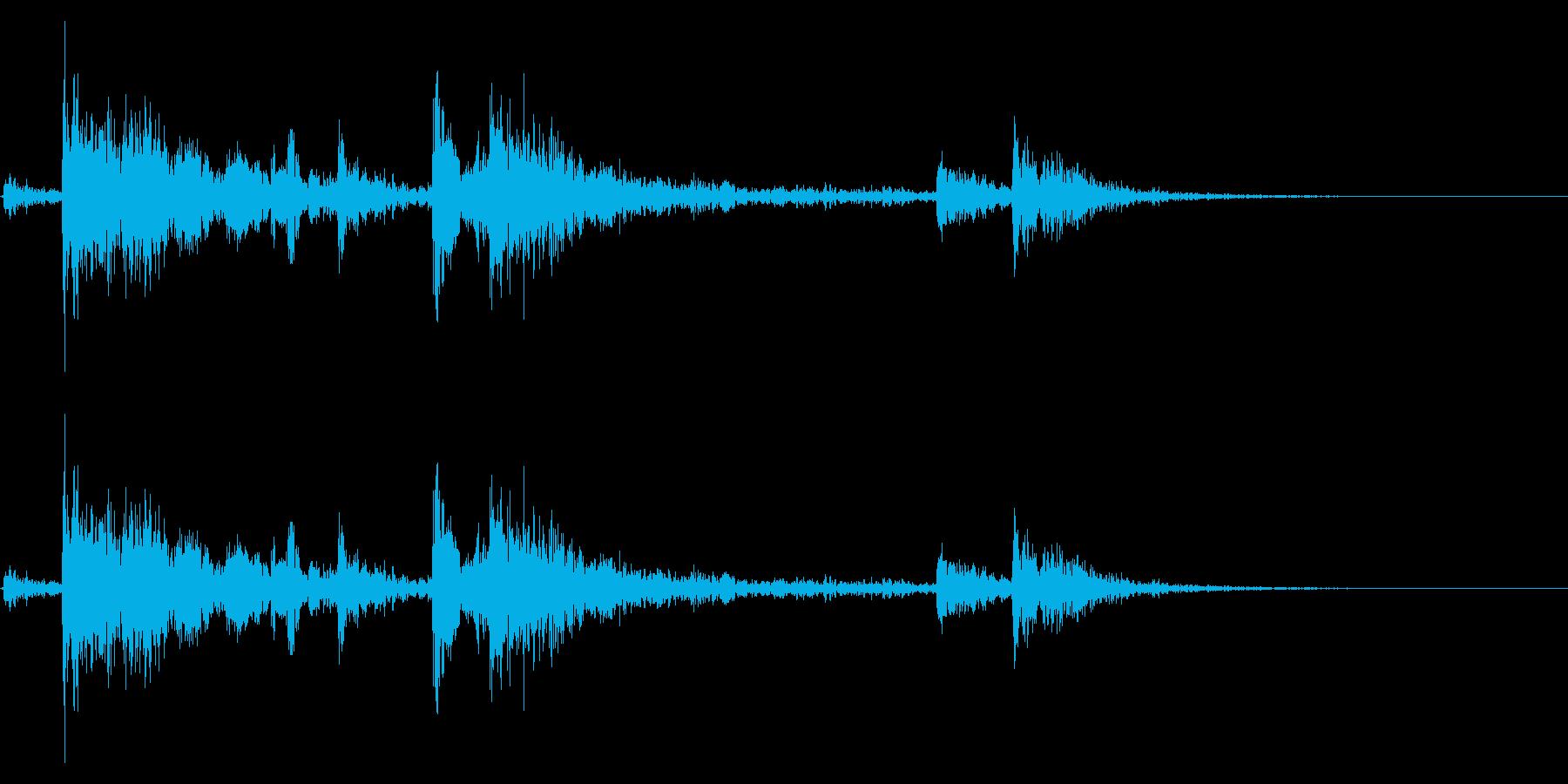 【生録音】鎖を軽く引っ張る音 2の再生済みの波形