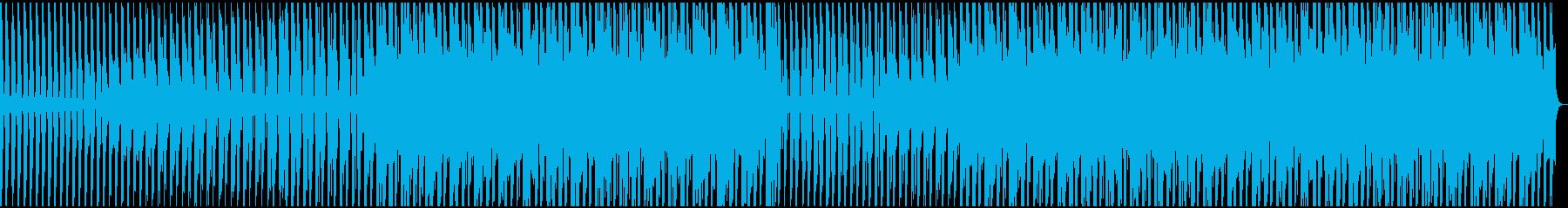 ブリッとしたシンセがリードの四つ打ちの再生済みの波形