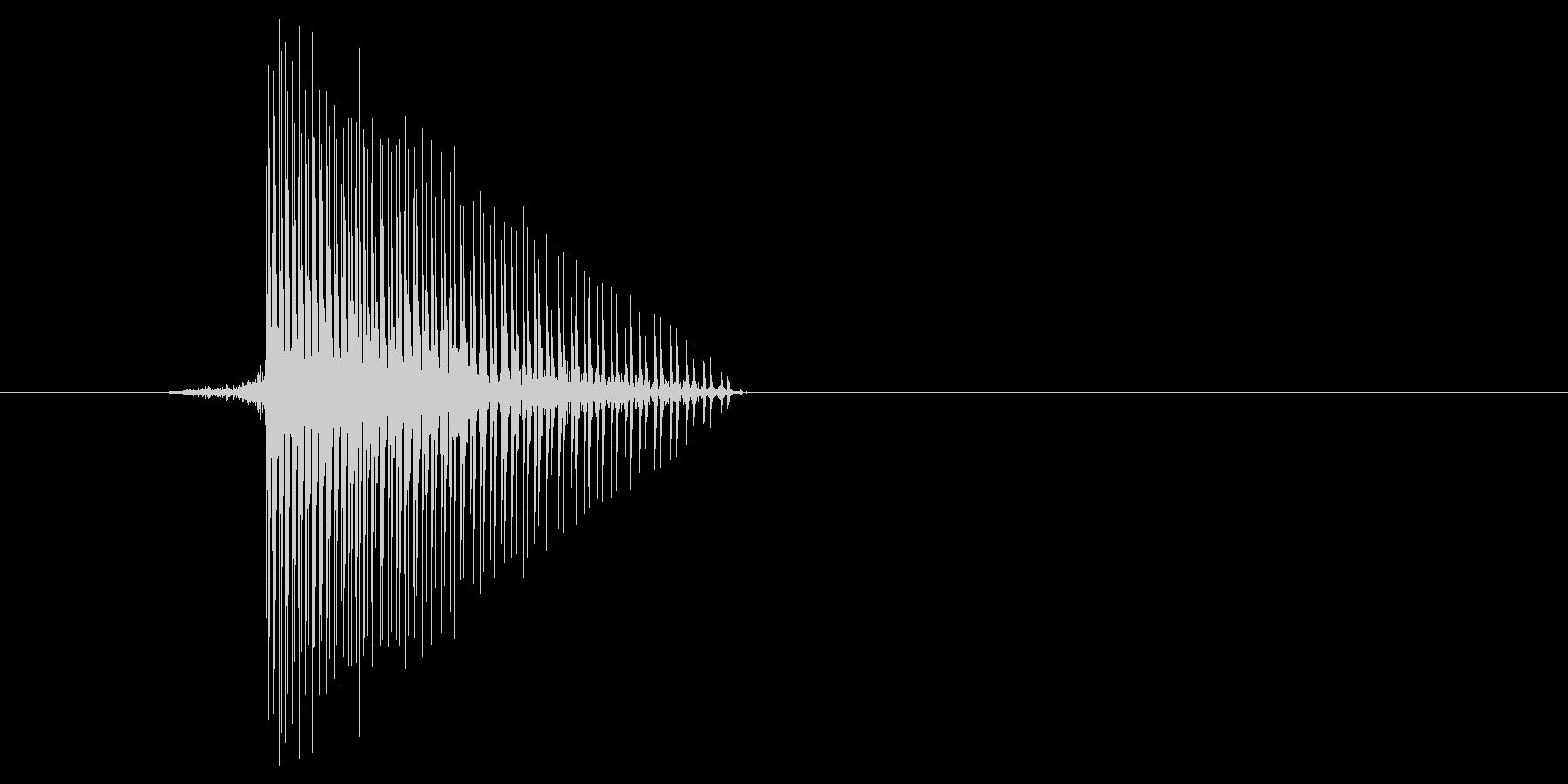 ゲーム(ファミコン風)ヒット音_032の未再生の波形