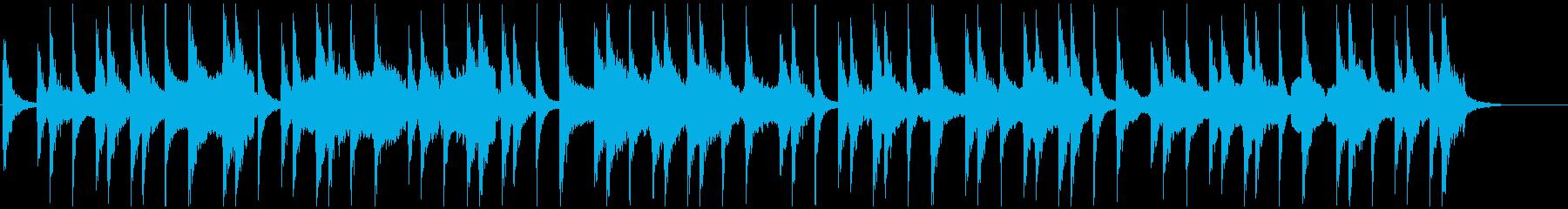 和風アンビエント 宴や侍イメージの和太鼓の再生済みの波形