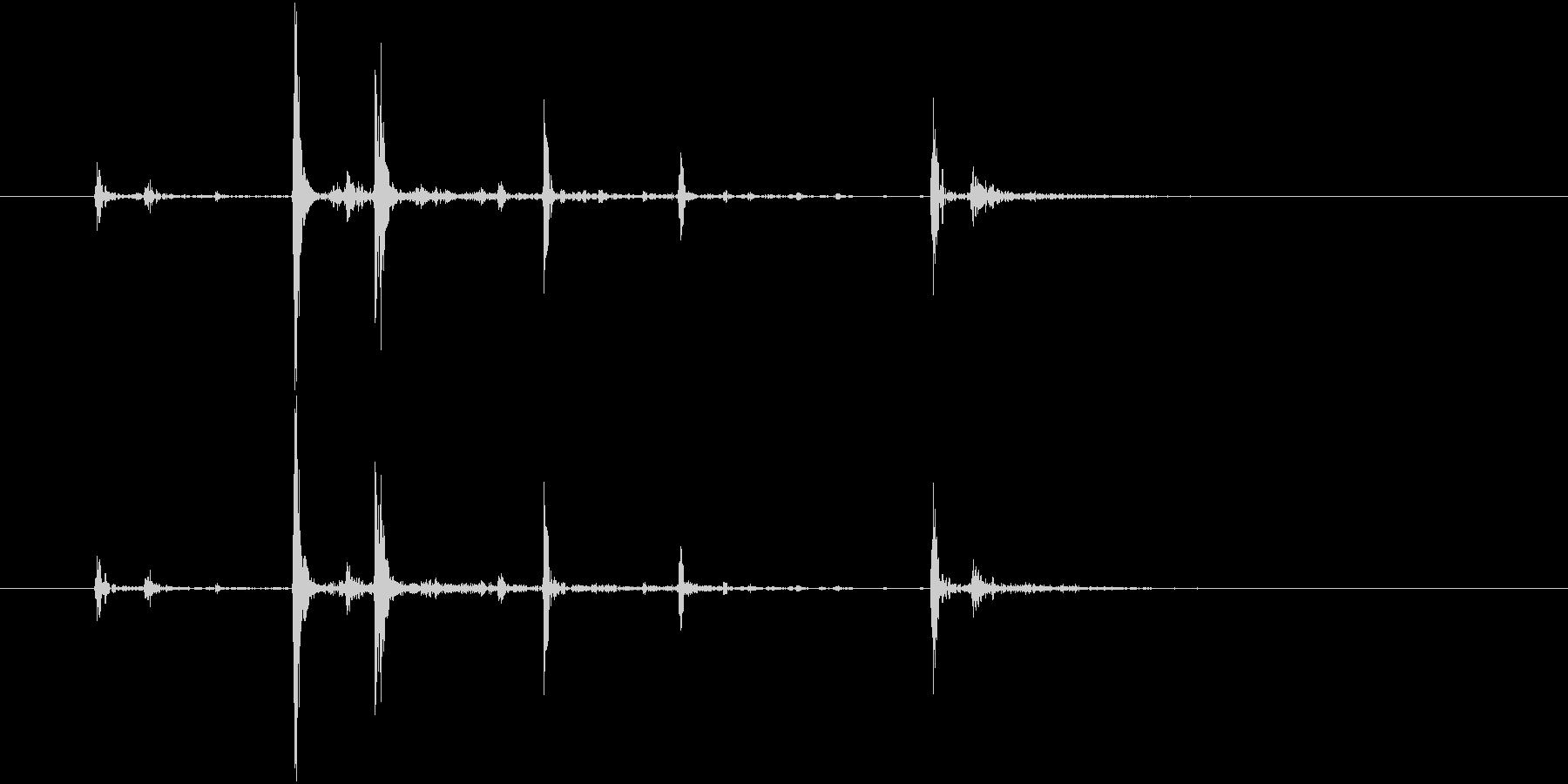 Anime 指の関節を鳴らす音 2の未再生の波形