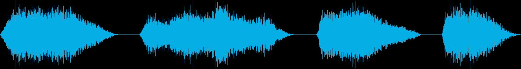 スペーススフィア、4バージョン、振...の再生済みの波形