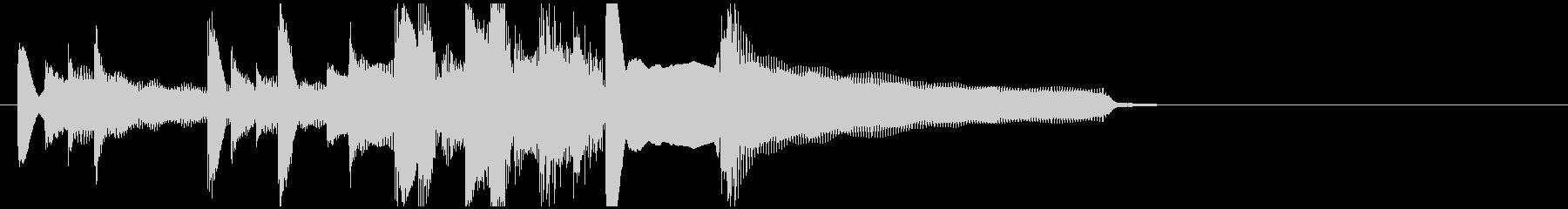 朗らかで穏やかなアコギジングルの未再生の波形