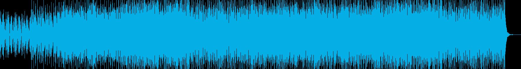 かっこいいリズムのEDMの再生済みの波形