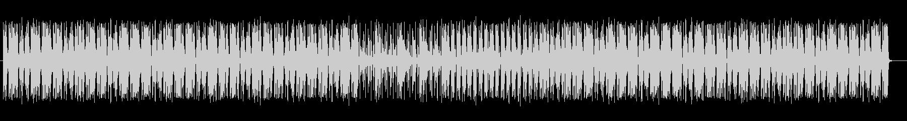 ドラムが際立つシャッフルビートの未再生の波形
