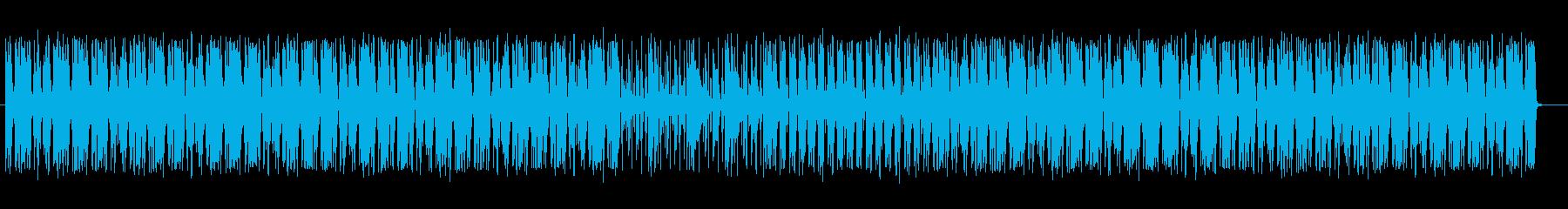 ドラムが際立つシャッフルビートの再生済みの波形