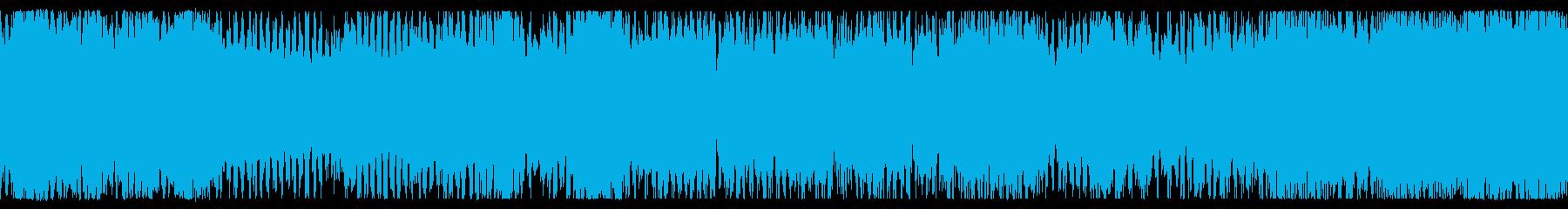 ループ素材 勇壮コミカルなチップチューンの再生済みの波形