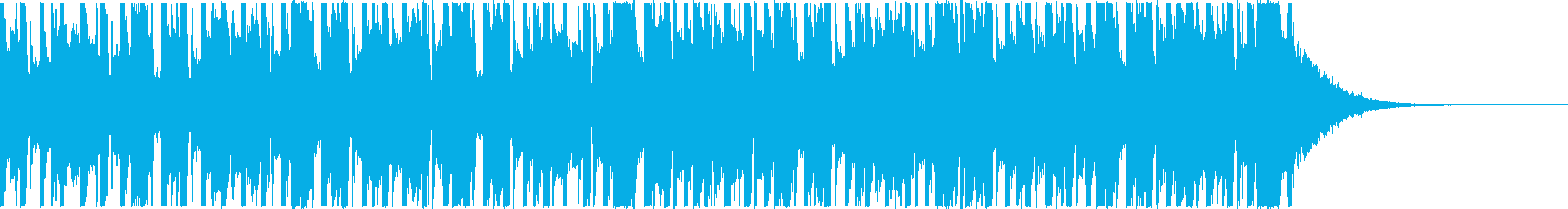 ミドルテンポの都会的な4つ打ち、短尺の再生済みの波形