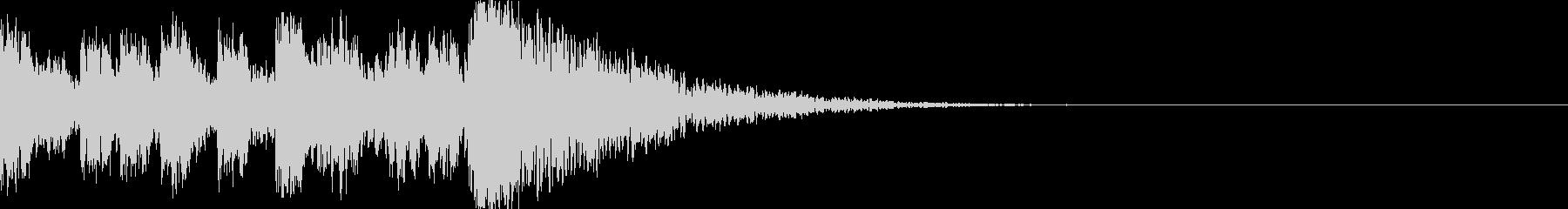 鼓(つづみ)太鼓のフレーズ ジングル02の未再生の波形