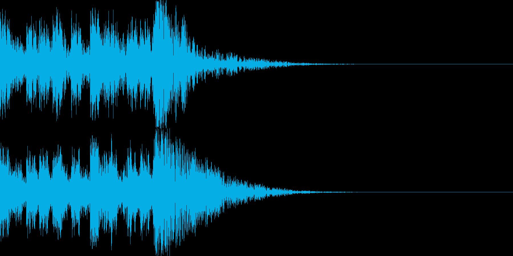 鼓(つづみ)太鼓のフレーズ ジングル02の再生済みの波形
