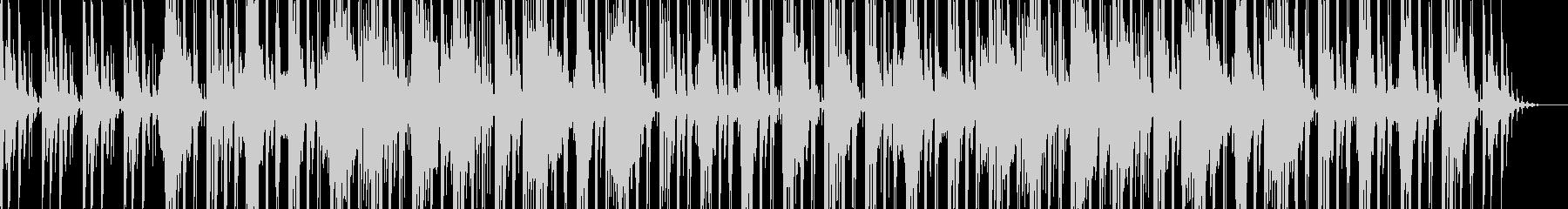 ゆったり優しい電子音メインのBGMの未再生の波形
