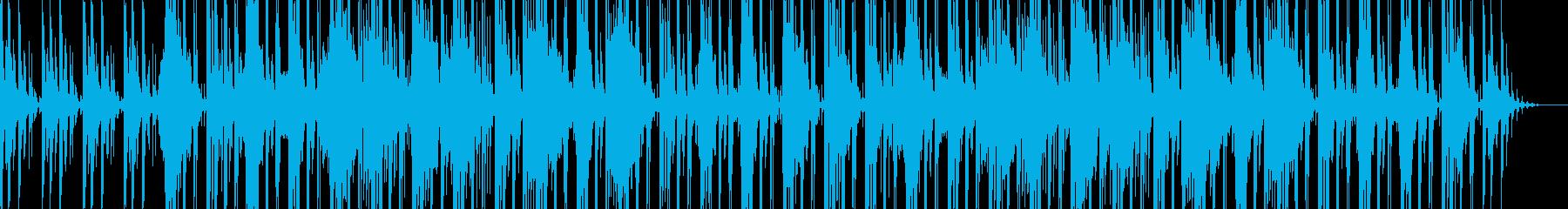 ゆったり優しい電子音メインのBGMの再生済みの波形