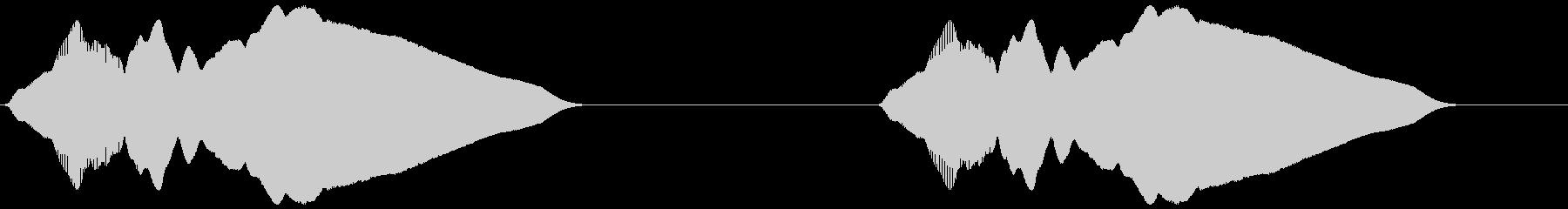警報 火災警報器風(ファンファン)の未再生の波形