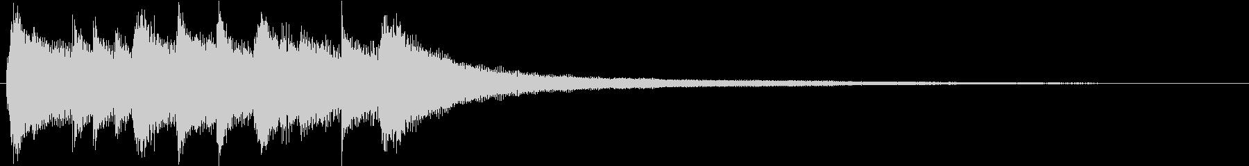 シンプルで明るいピアノのジングルA-01の未再生の波形