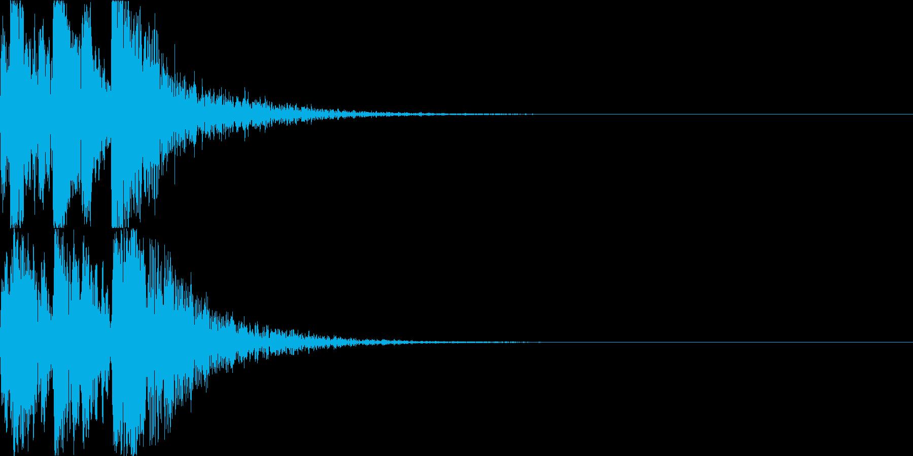 鼓(つづみ)太鼓のフレーズ ジングル3bの再生済みの波形
