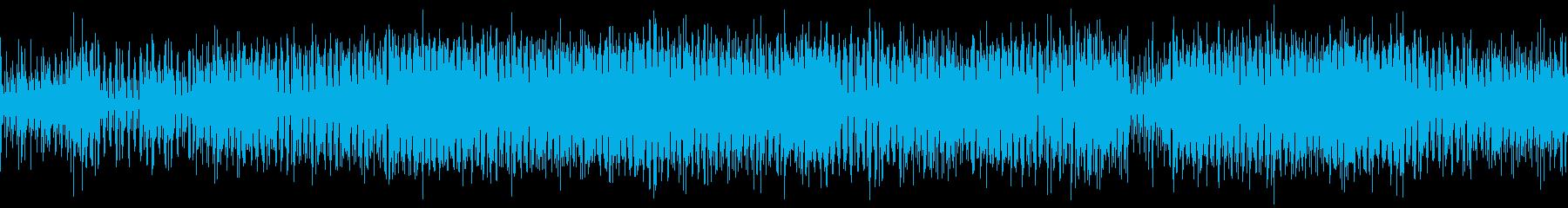電話、着信、サイバー、等に合うループ曲の再生済みの波形