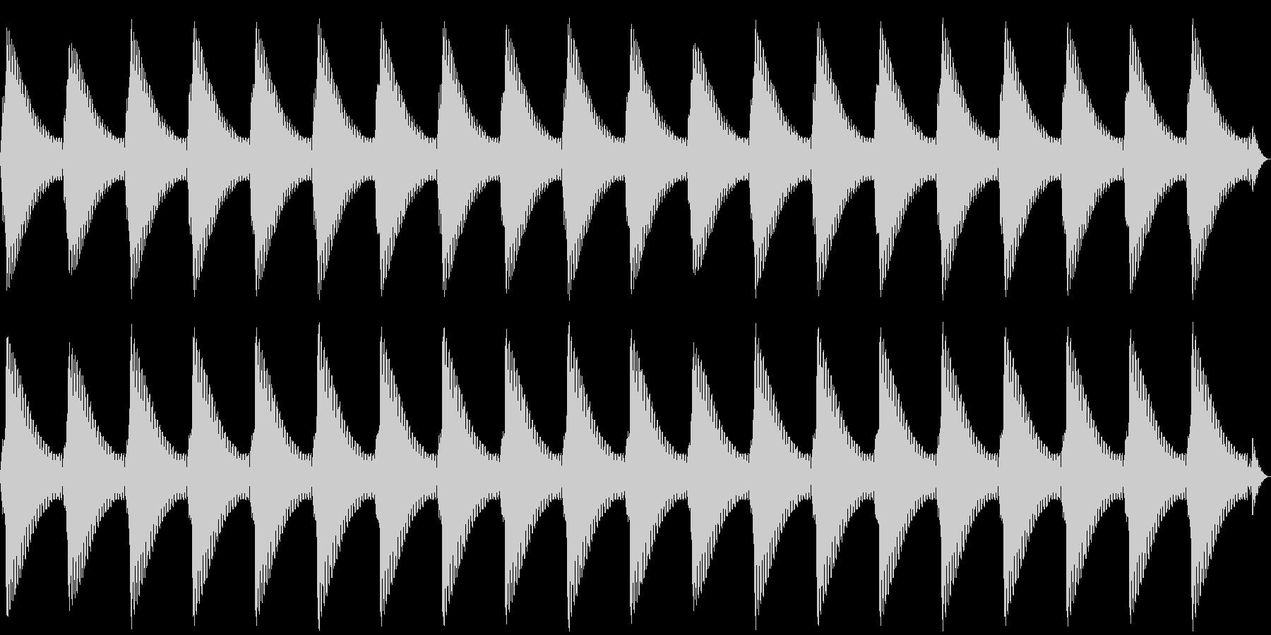 踏切(カンカンカンカン)の未再生の波形
