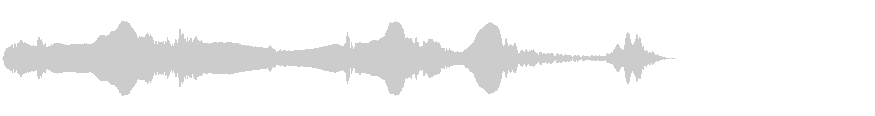尺八 生演奏 古典風#14の未再生の波形