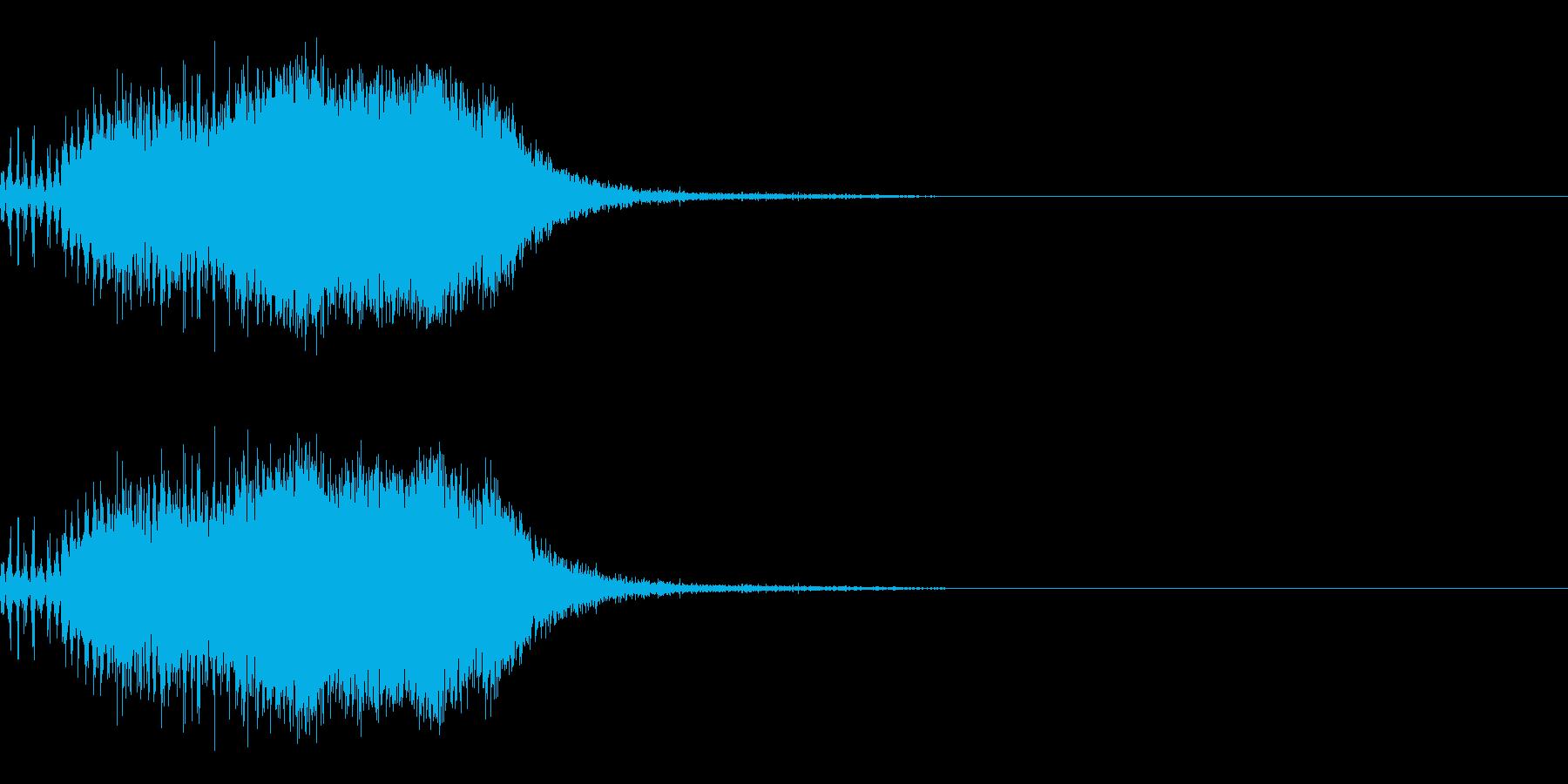 スパーク音-40の再生済みの波形