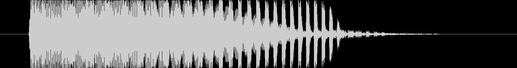 技を放つ前のチャージ音の未再生の波形