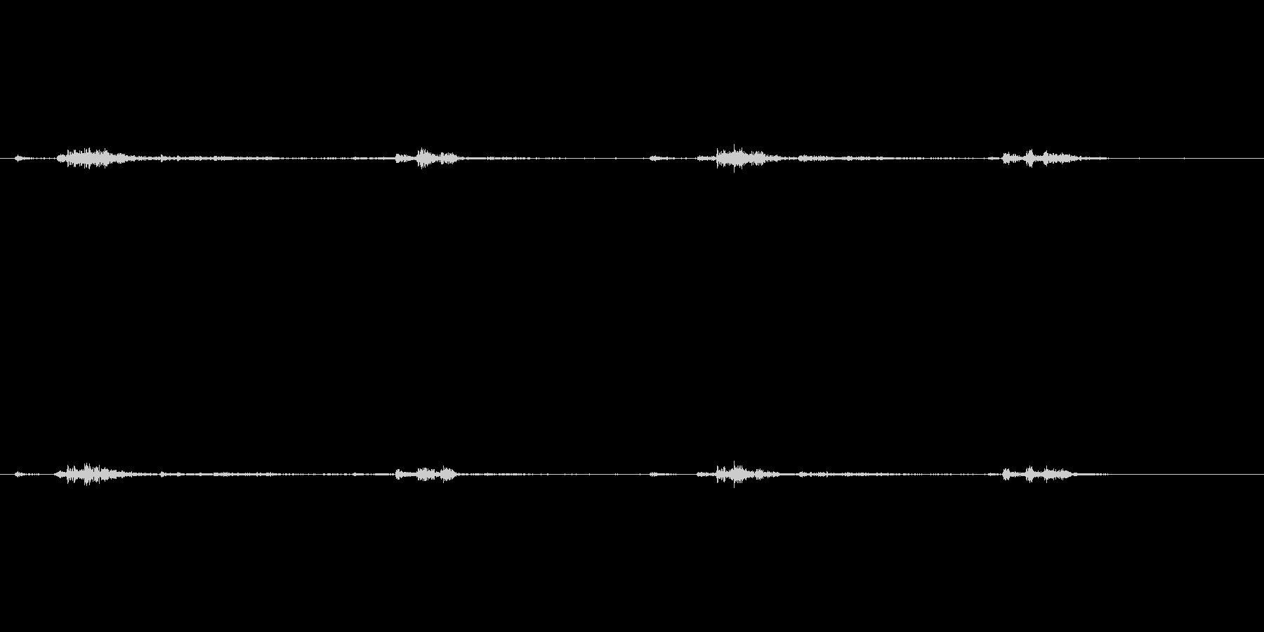 マントル時計のカチカチ音(短い)の未再生の波形
