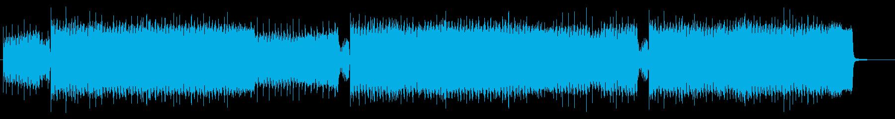 カノン進行の明るいハッピーハードコアの再生済みの波形