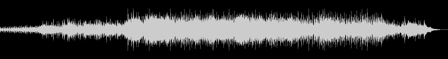 マリンバとピアノの穏やかで壮大なBGMの未再生の波形