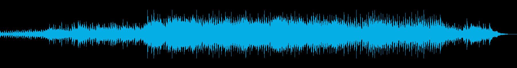 マリンバとピアノの穏やかで壮大なBGMの再生済みの波形