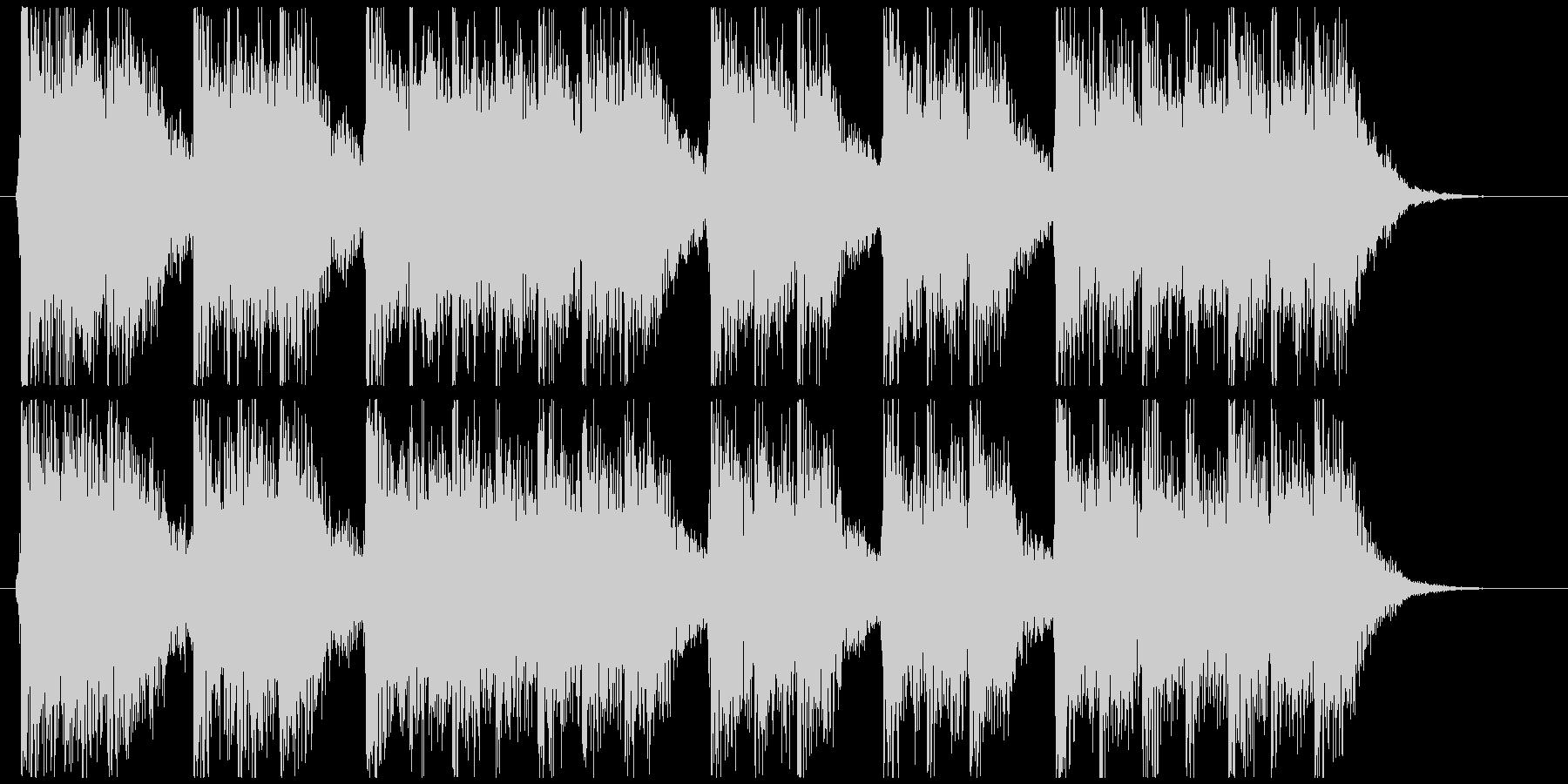 三三七拍子モチーフ力強い和風ジングル 2の未再生の波形