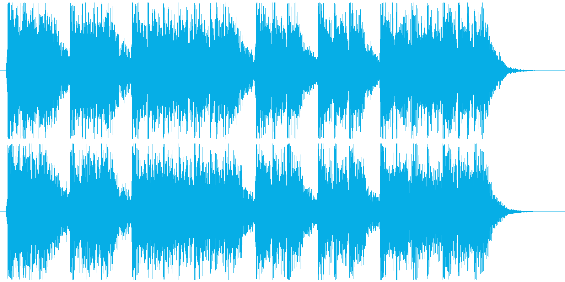 三三七拍子モチーフ力強い和風ジングル 2の再生済みの波形