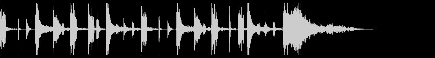 シンプルでスタイリッシュなジングルの未再生の波形