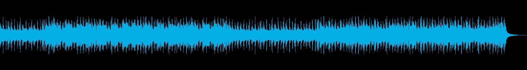 ウクレレと口笛のほのぼの楽曲の再生済みの波形