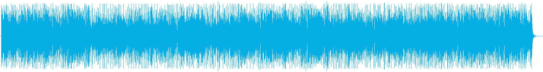 爽やかなシンセサイザー鈴などの曲の再生済みの波形