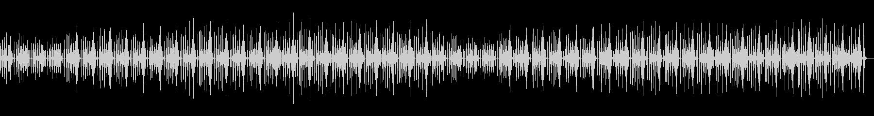 おどけたような、かわいいコミカルなBGMの未再生の波形