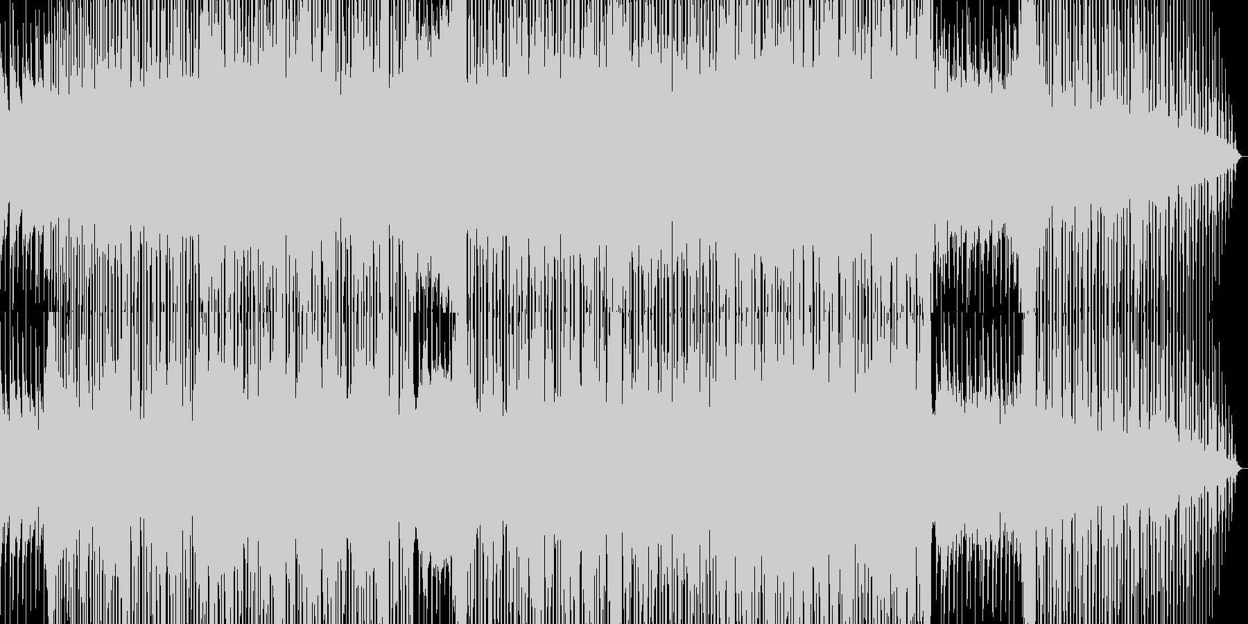 アニメの主題歌のようなカッコイイBGMの未再生の波形