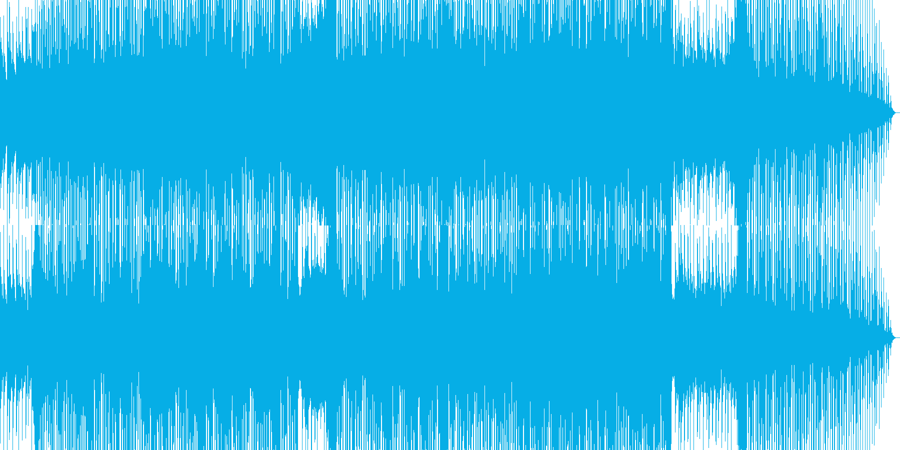 アニメの主題歌のようなカッコイイBGMの再生済みの波形