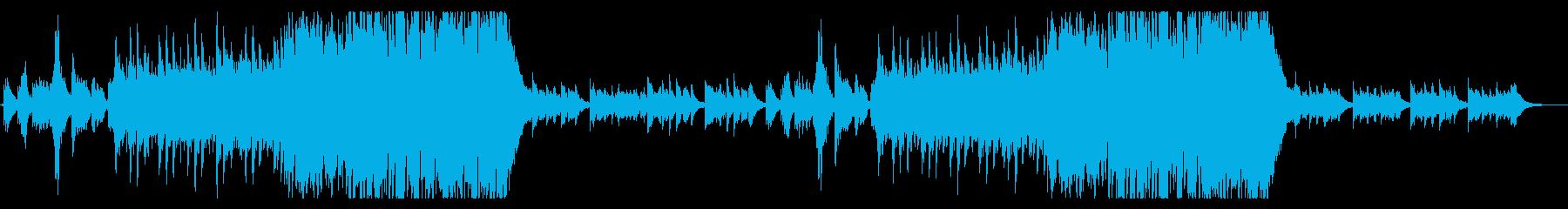 ダークファンタジーの物語を感じる曲の再生済みの波形