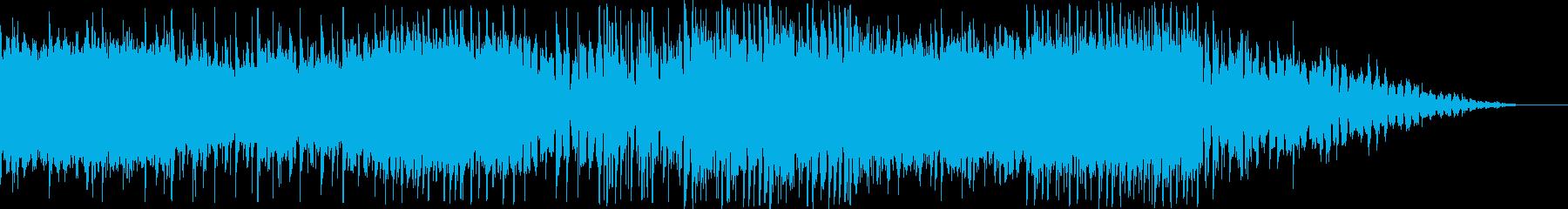 ワクワクした雰囲気の未来的なEDMの再生済みの波形