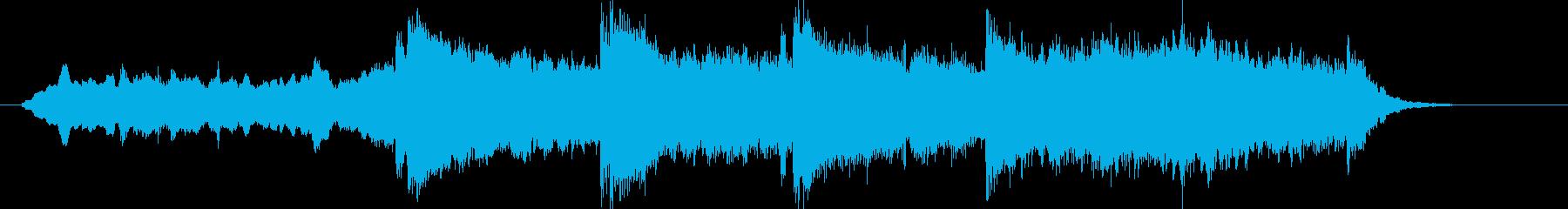 幻想的で壮大なヒーリング曲の再生済みの波形