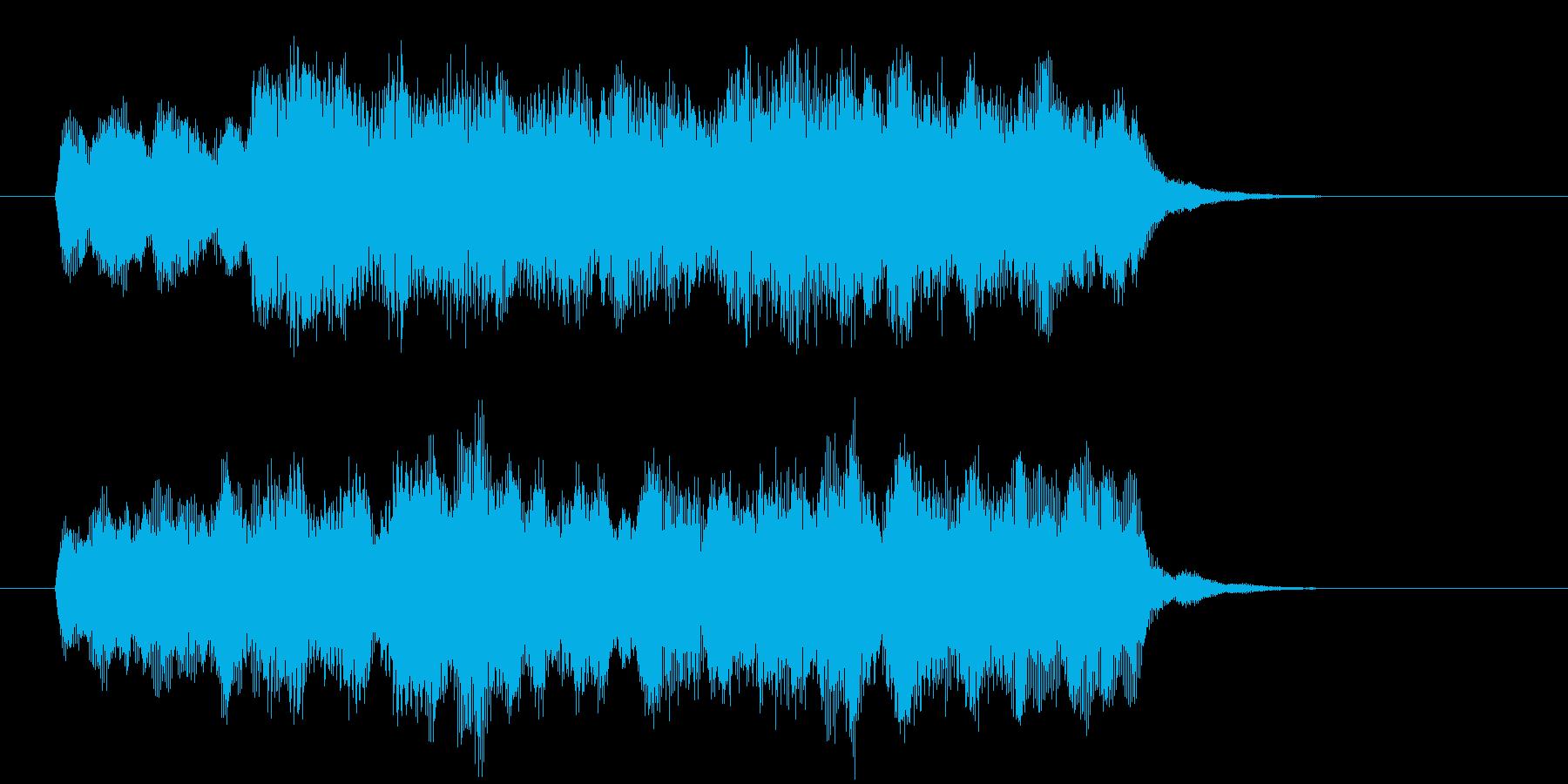 ディズニー風ジングルショートバージョンの再生済みの波形
