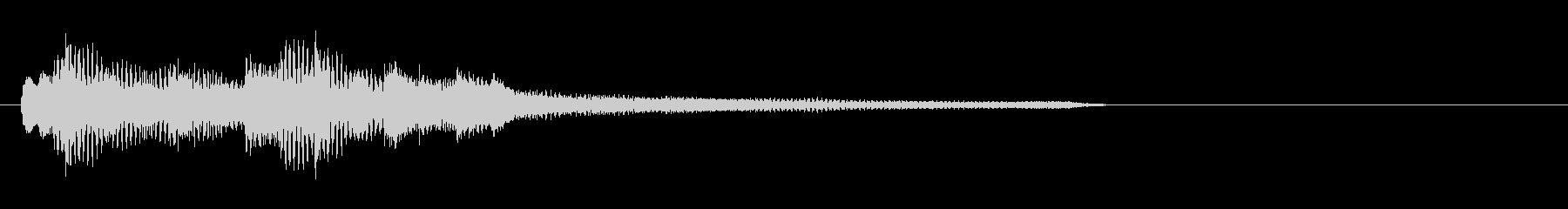 ピアノだけのシンプルで綺麗なジングル17の未再生の波形