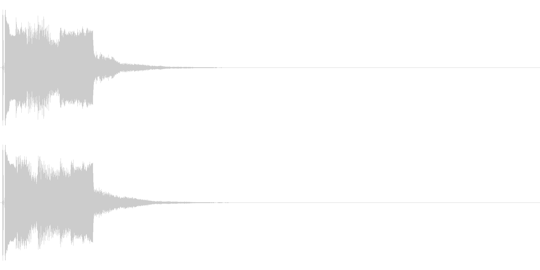 不協和音なシンセ音(不気味な演出用)の未再生の波形