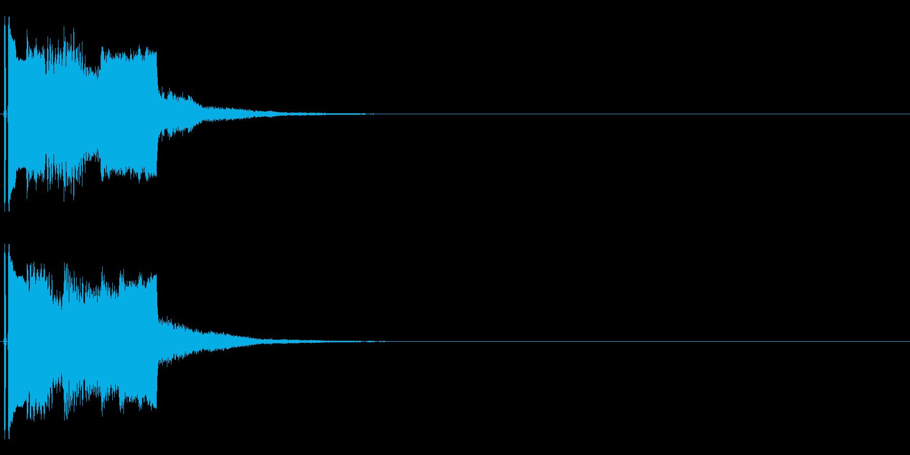 不協和音なシンセ音(不気味な演出用)の再生済みの波形