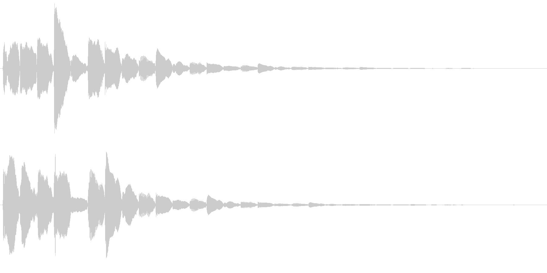 ポイント取得時に使える電子音SEの未再生の波形