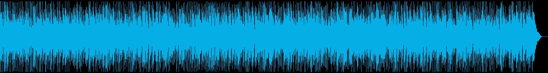 軽快なロカビリー風BGMの再生済みの波形