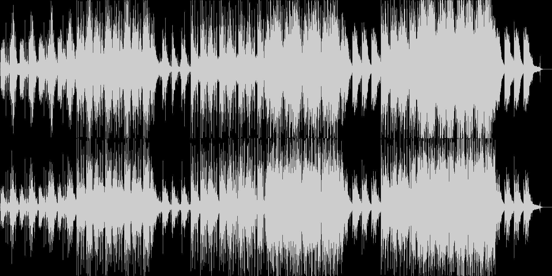 寂しげな雰囲気のエレクトロニカの未再生の波形